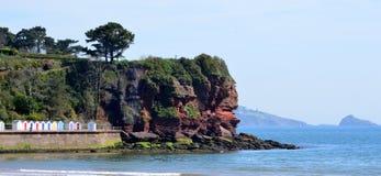 Red Cliffs under Roundham Head, Devon Royalty Free Stock Image