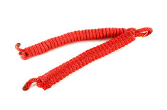 Red climbing rope  Royalty Free Stock Photos