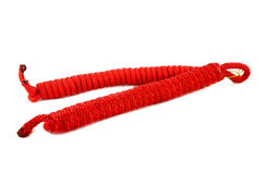 Red climbing rope isolated Stock Photos