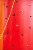 Red climbing wall, leisure activity Stock Photos