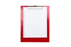 Red Clip Board Stock Image