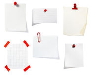 Red clip notes business office group Royalty Free Stock Images