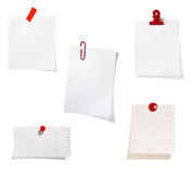 Red clip notes business office group Stock Photography
