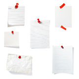 Red clip notes business office group Royalty Free Stock Photo