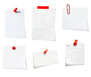 Red clip notes business office group Royalty Free Stock Photos