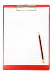 Red Clipboard Stock Photo