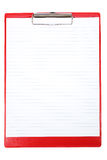 Red Clipboard Royalty Free Stock Photo