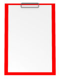 Red Clipboard isolated on white Stock Image