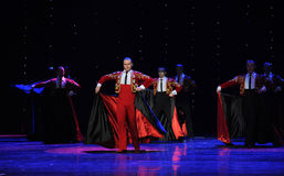 The red cloak-the Austria's world Dance Stock Photo