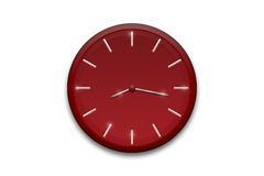 Red clock. Graphic isolated on white Stock Photo