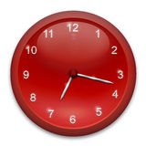 Red clock Stock Photography