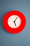 Red clock Royalty Free Stock Image
