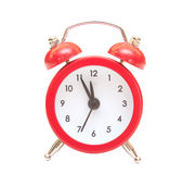 Red clock Royalty Free Stock Photography