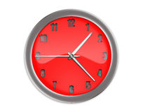 Red clock with arrows Stock Images