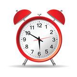Red clock  art illustration Stock Photography