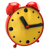 Red clock Stock Image