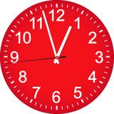 Red clock dial. Royalty Free Stock Photos
