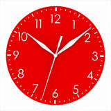 Red clock face Stock Image