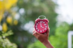 Be on time Respect time And the key to time. royalty free stock images