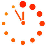 Red clock icon Stock Image