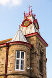 Red clock tower Stock Photography