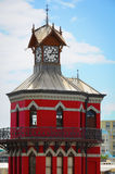 Red clock tower in Cape Town, South Africa Stock Photography