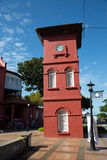 Red Clock Tower in Malacca. Red Clock Tower is an important landmark of Malacca. It was erected in 1886 Royalty Free Stock Photography