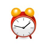 Red clock. Vector Stock Images