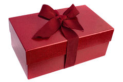 Red closed box witn bow Stock Images