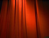 Red closed curtain Stock Images