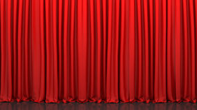 Red closed curtain Royalty Free Stock Photo