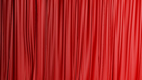 Red closed curtain background in a theater Royalty Free Stock Photos