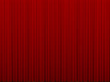 Red closed curtain Stock Image