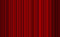 Red closed curtain with light spots in a theater Royalty Free Stock Photos
