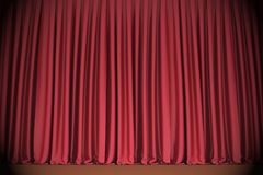 Red closed the curtain Royalty Free Stock Photos