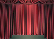 Red closed the curtain Royalty Free Stock Photo