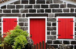 Red Closed Door Stock Images