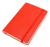 Red closed paper notepad on white Royalty Free Stock Image