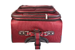 The red closed suitcase Stock Images
