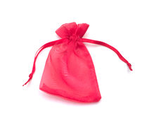 Red cloth bag Stock Images
