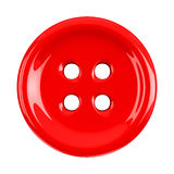Red cloth button, 3d stock illustration