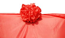 The red cloth and flower Royalty Free Stock Image