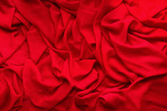 Red cloth with folds on it Royalty Free Stock Photography