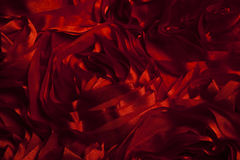 Red cloth in the form of roses Stock Image
