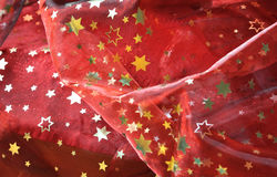 Red cloth with golden stars Stock Image