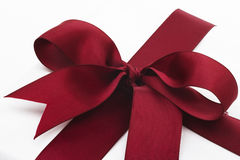 Red cloth present bow Royalty Free Stock Photos