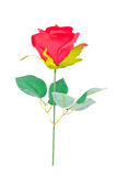 Red cloth rose. Royalty Free Stock Photos