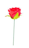 Red cloth rose. Royalty Free Stock Images