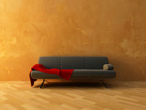 Red cloth on sofa Royalty Free Stock Photography