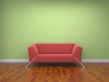 Red cloth sofa Royalty Free Stock Image